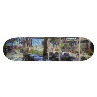 Open air cafe skate board