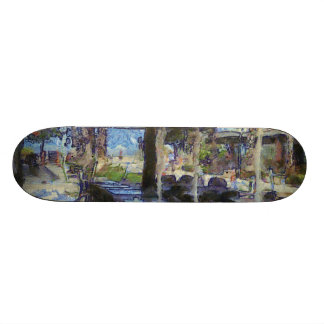 Open air cafe skate board decks
