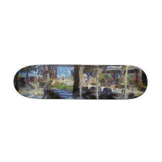 Open air cafe skateboard deck