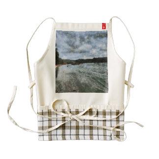 Open air cafe zazzle HEART apron