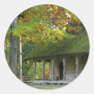 Open-air museum classic round sticker