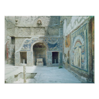 Open air triclinium of the House of Neptune Poster