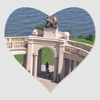 Open arms for peace and calm orangerie schwerin heart sticker