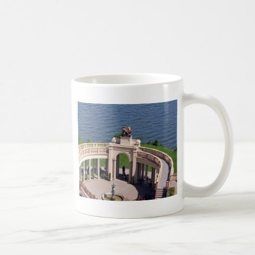 Open arms for peace and calm orangerie schwerin classic white coffee mug