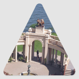 Open arms for peace and calm orangerie schwerin triangle sticker