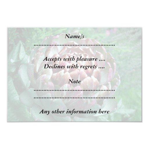 Open Artichoke. 3.5x5 Paper Invitation Card