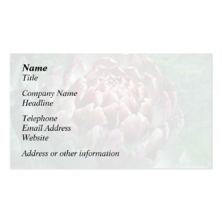 Open Artichoke. Business Card Template