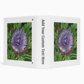 Open Artichoke Flower. Purple. Binder