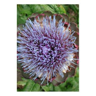 Open Artichoke Flower. Purple. Business Card Templates