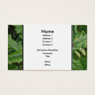 Open Artichoke Flower. Purple. Business Card