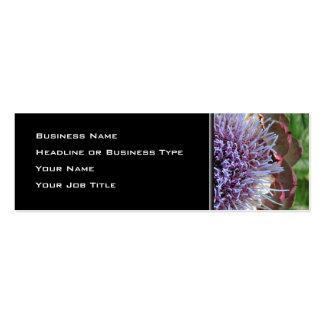 Open Artichoke Flower. Purple. Business Cards