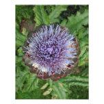 Open Artichoke Flower. Purple. Personalized Announcements