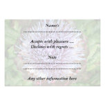 Open Artichoke Flower. Purple. Invitation
