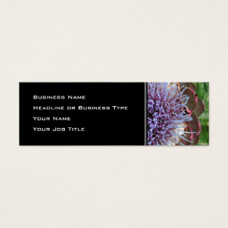 Open Artichoke Flower. Purple. Mini Business Card