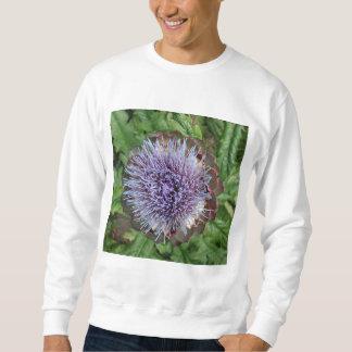 Open Artichoke Flower. Purple. Sweatshirt