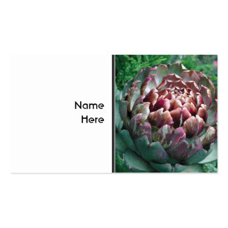 Open Artichoke Plant. Business Cards