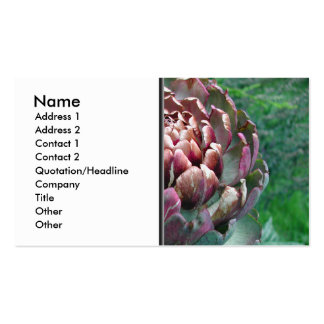 Open Artichoke Plant. Business Card Template