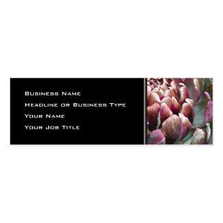 Open Artichoke Plant. Business Card