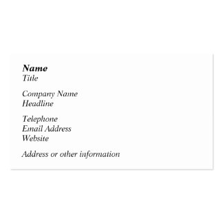 Open Artichoke Plant. Business Card Templates