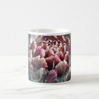 Open Artichoke Plant. Coffee Mugs