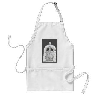 Open beautiful doors adult apron
