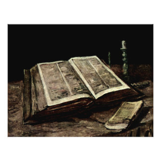Open Bible Book with Candles - van Gogh Flyer