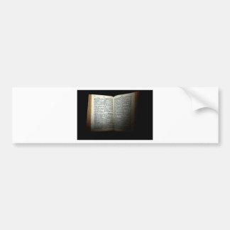 Open bible bumper sticker