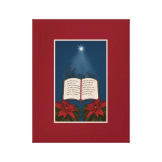 Open Bible Christmas Message Canvas Print