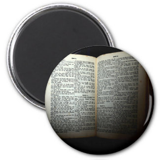 Open bible magnet