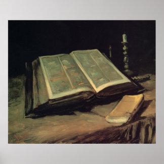 Open Bible Still Life Poster