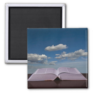 open book 2 inch square magnet