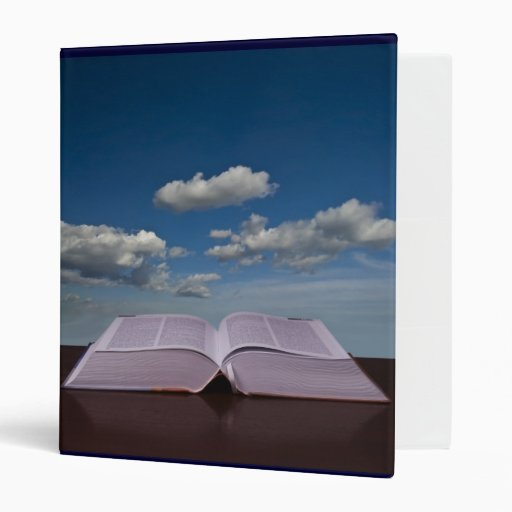 Open Book and Sky 3 Ring Binders