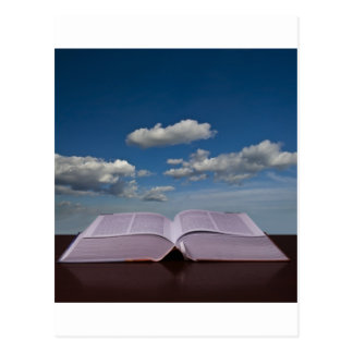 Open Book and Sky Postcard