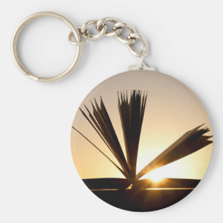 Open Book and Sunset Photograph Keychain