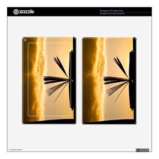 Open Book and Sunset Photograph Kindle Fire Skin