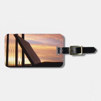 Open Book and Sunset Photograph Bag Tag