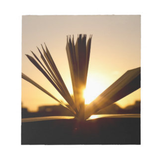 Open Book and Sunset Photograph Notepad