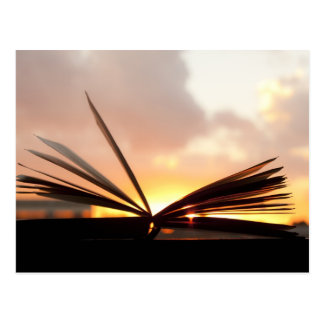 Open Book and Sunset Photograph Postcard