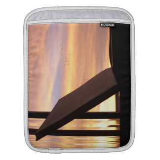 Open Book and Sunset Photograph Sleeve For iPads
