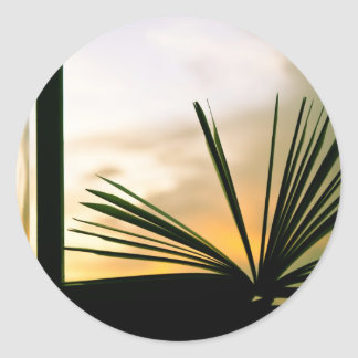 Open Book and Sunset Photography Classic Round Sticker