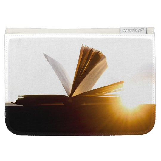 Open Book and Sunset Photography Kindle Cover