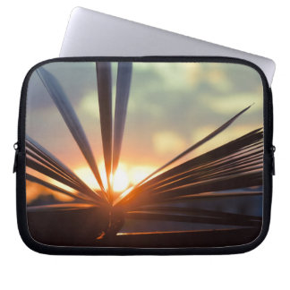 Open Book and Sunset Photography Laptop Computer Sleeves