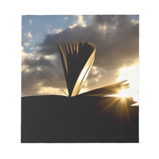 Open Book and Sunset Photography Memo Notepads