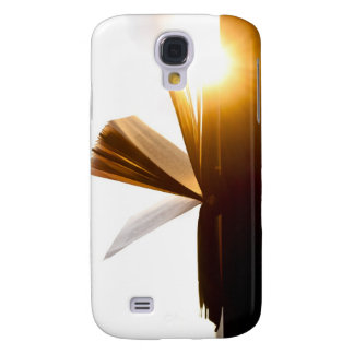 Open Book and Sunset Photography Samsung Galaxy S4 Cover