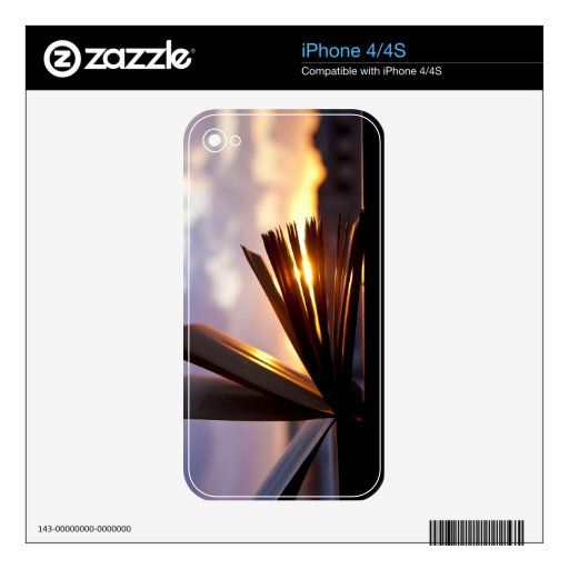Open Book and Sunset Photography Decals For iPhone 4S