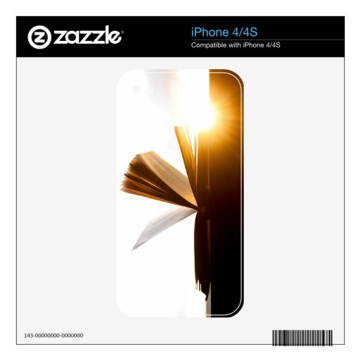 Open Book and Sunset Photography Skins For iPhone 4S