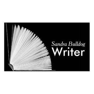 Open Book AUTHORS & WRITERS Business Card