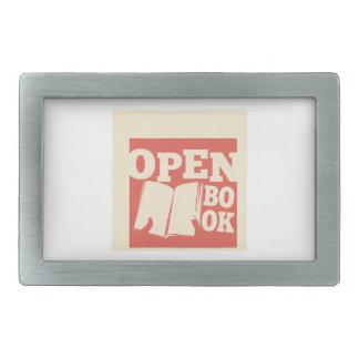 Open Book Rectangular Belt Buckles