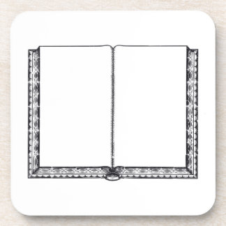 Open Book (Blank Pages) Drink Coaster