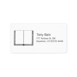 Open Book (Blank Pages) Label